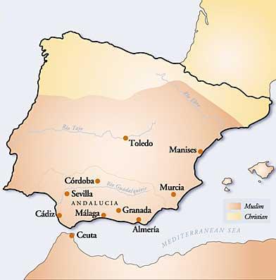 Map Of Spain 8th Century.Ceramica Y Cultura Origins Of Spanish Mayolica